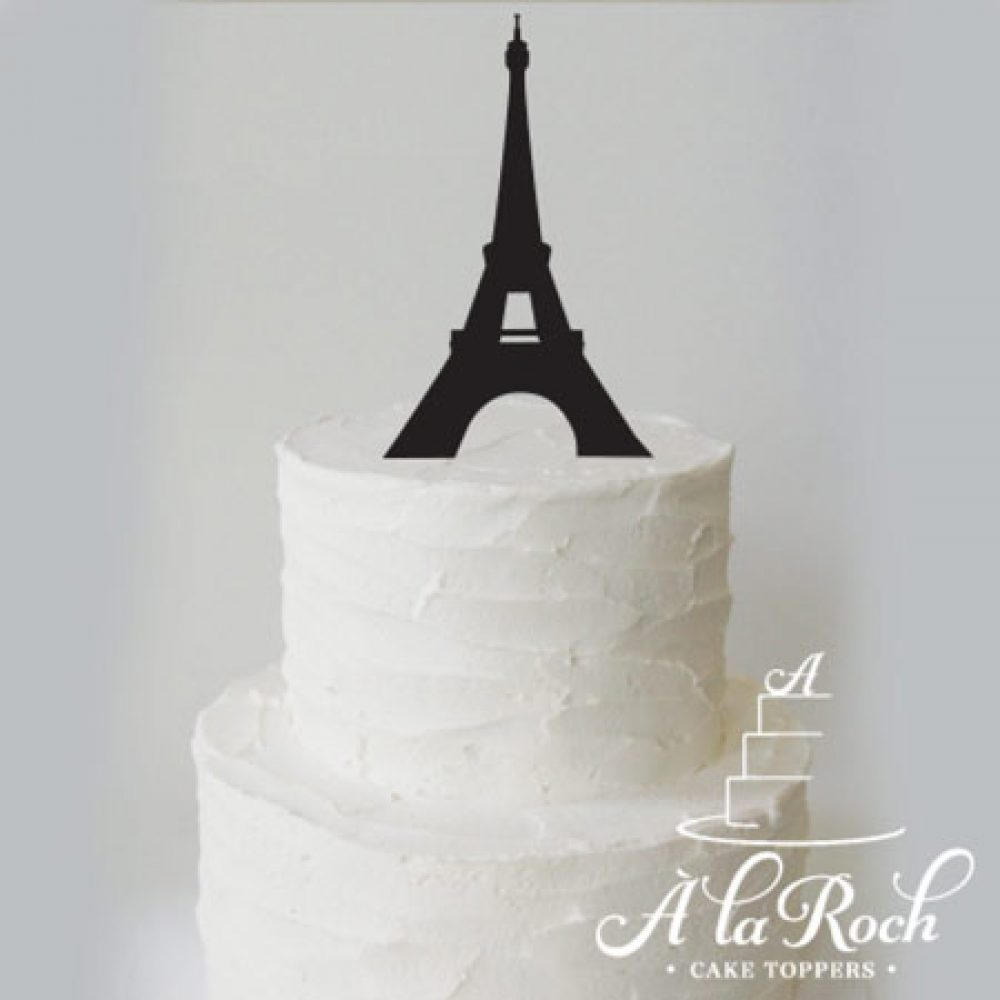 Eiffel Tower Acrylic Cake Topper
