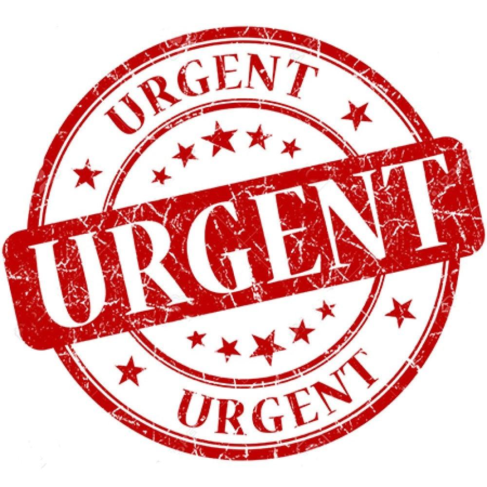 Urgent Order