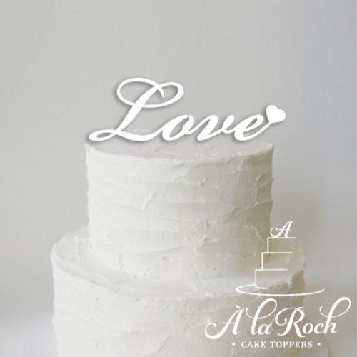 love valentines cake topper