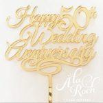 Wedding Anniversary Cake Topper