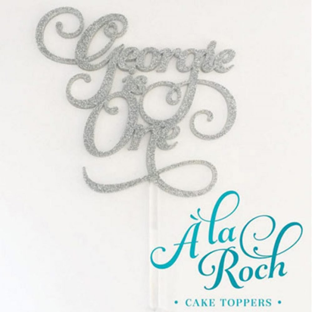 Age Scroll Cake Topper 1