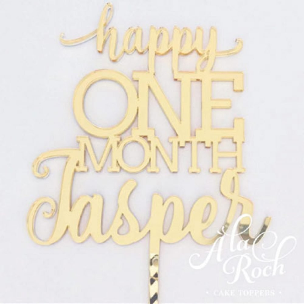 Happy One Month Cake Topper