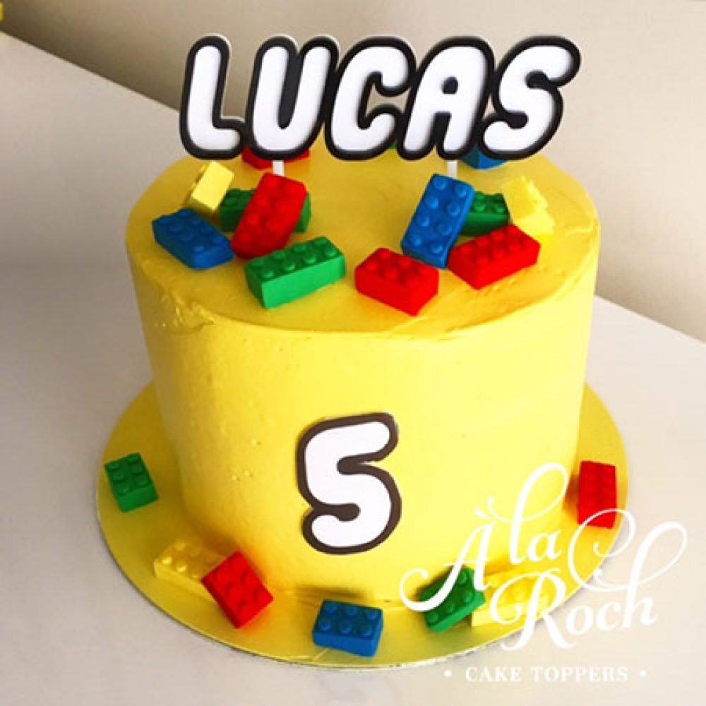 Custom Name Lego Cake Topper