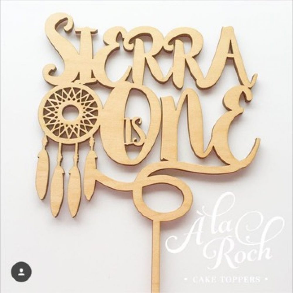 Custom Name Dreamcatcher Cake Topper