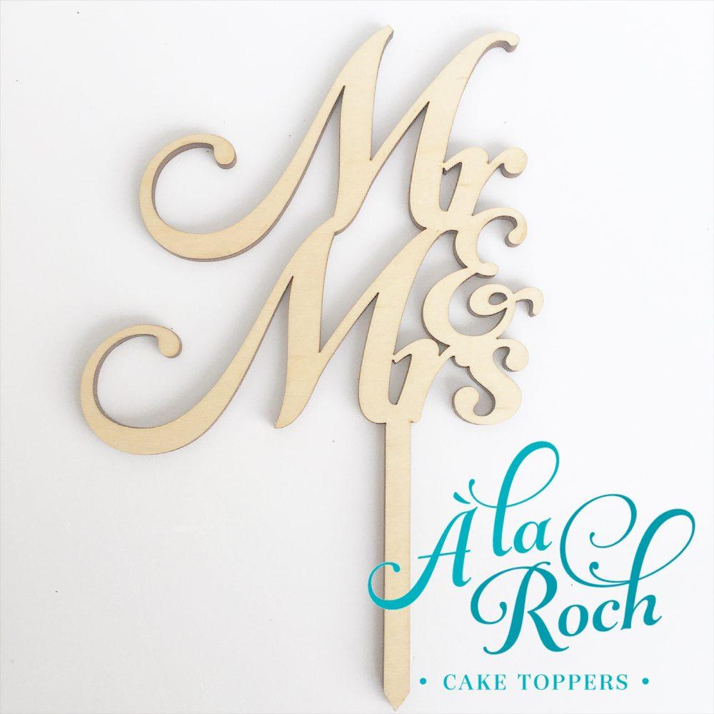 Mr & Mrs Wedding Cake Topper