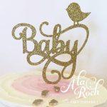 Baby swirl cake topper -
