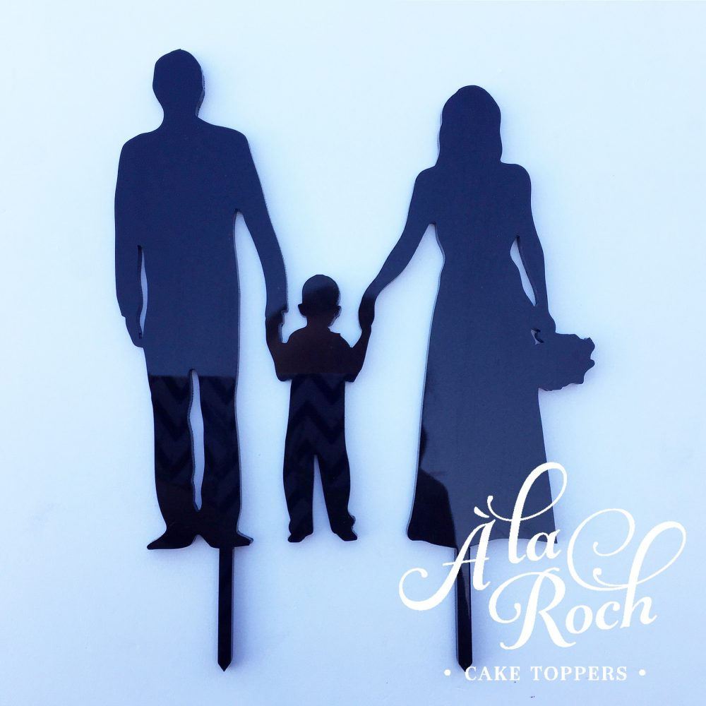 Wedding Silhouette with child 2 -