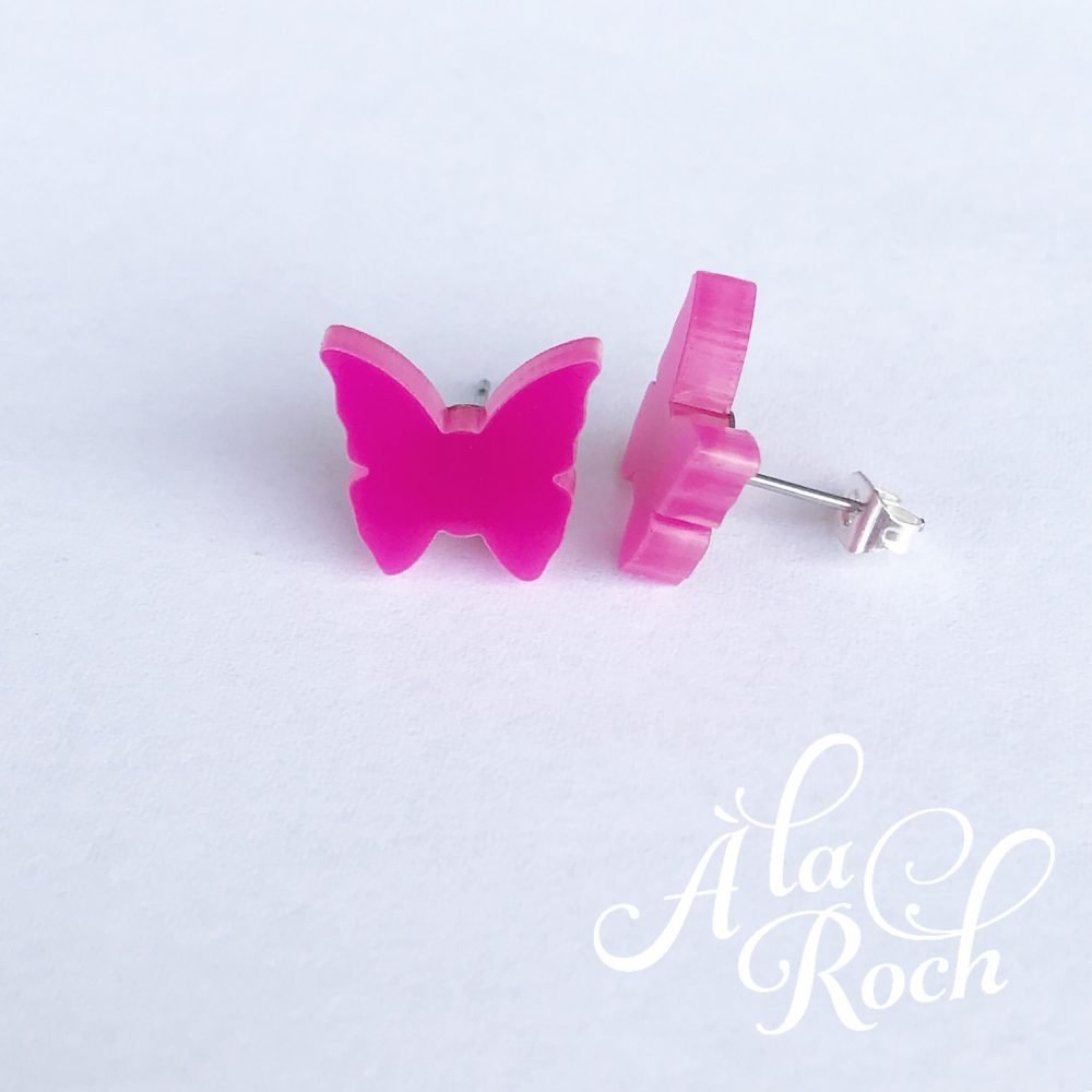 Butterfly stud earrings -
