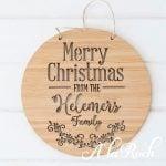 Christmas family plaque 1 -