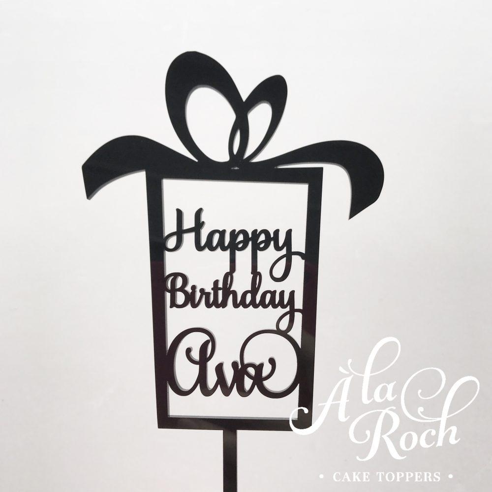 Happy Birthday Present with Name -