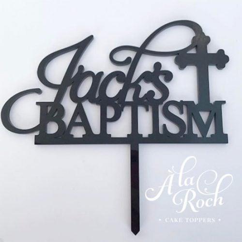 Custom Name and Sacrament Cake Topper for Christening, Baptism, Communion or Confirmaiton