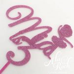 Custom Name with ballerina cake topper