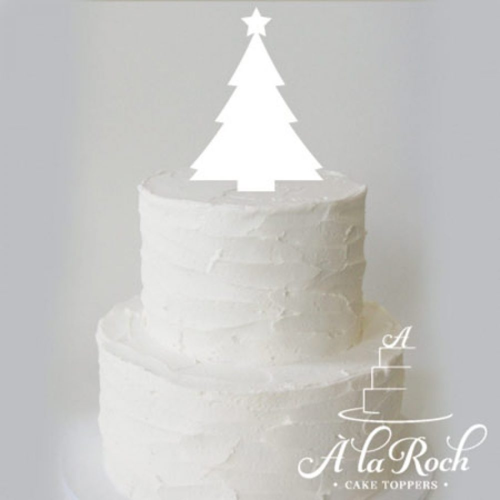 Christmas Tree Acrylic Cake Topper