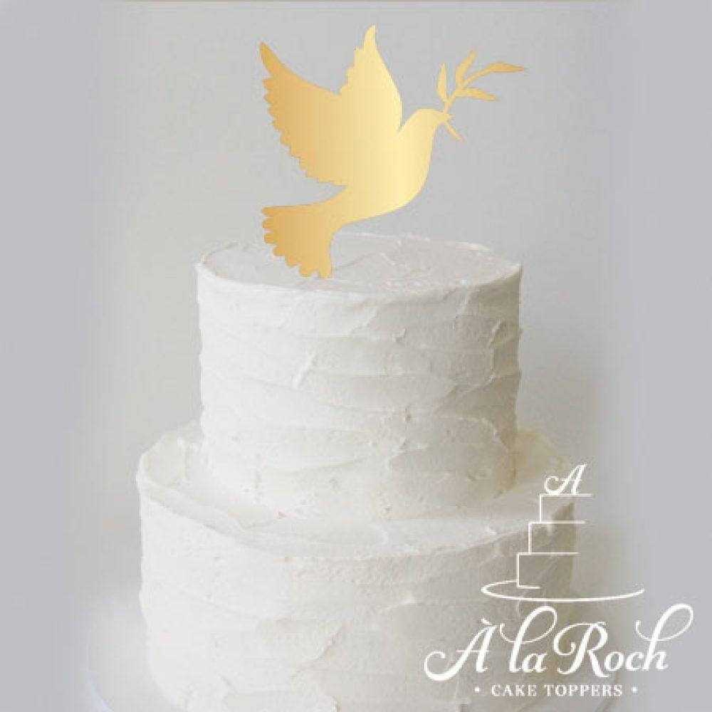 Dove Acrylic Cake Topper