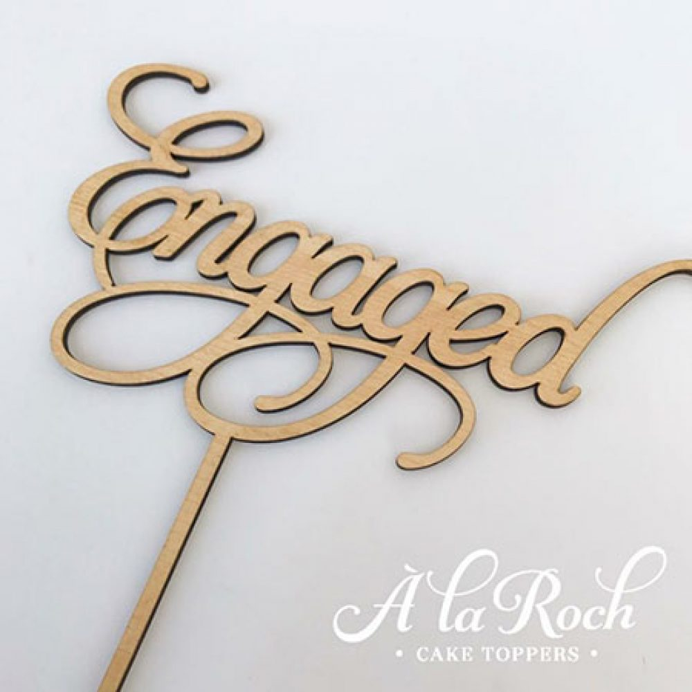 Engaged Word 1 Cake Topper