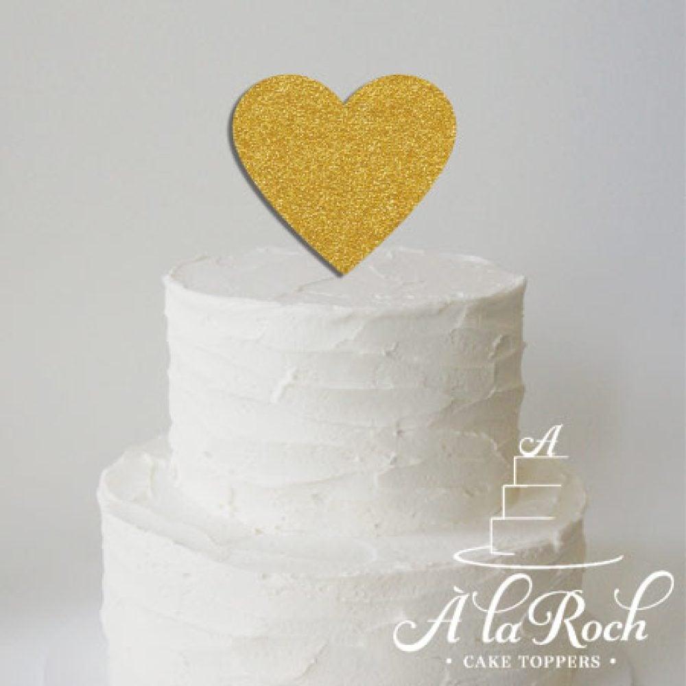 Heart Cake Topper for Wedding Cake