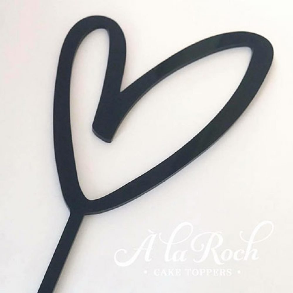 Heart Outline Wedding Cake Topper