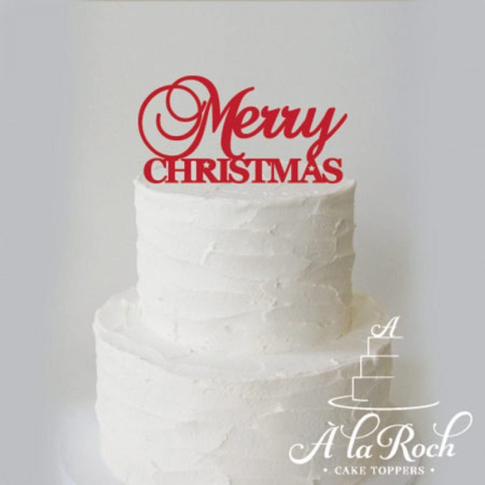 Merry Christmas Acrylic Cake Topper