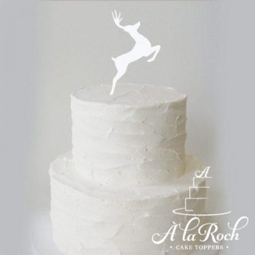 Christmas Reindeer Acrylic Cake Topper