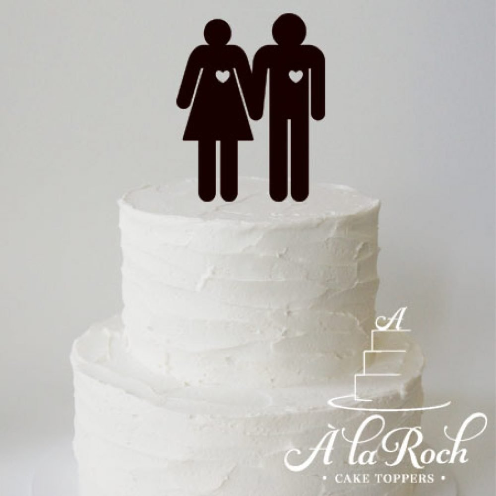 Stick Couple Wedding Cake Topper