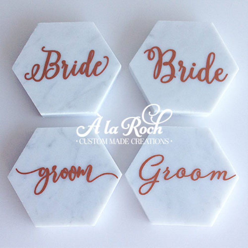Marble Wedding Name Place Cards
