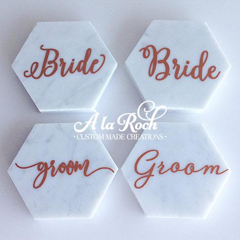 Wedding Name Cards.Marble Wedding Place Card Name Coaster