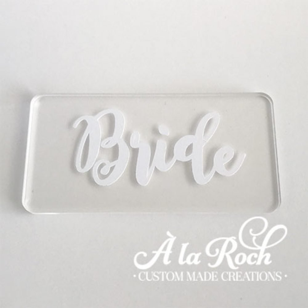 Laser Cut Name Place Card Setting