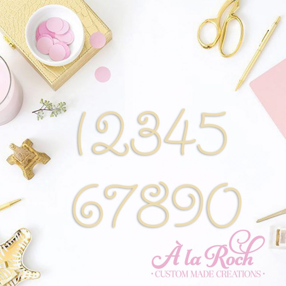 Laser Cut Number Cake Topper