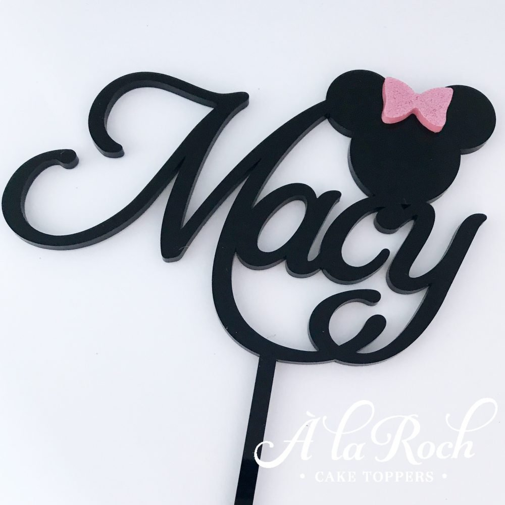 Minnie Mouse Custom Name Cake Topper